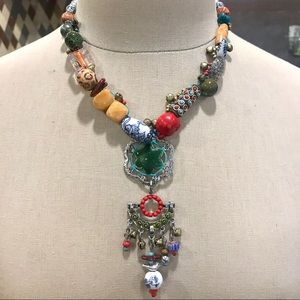 Beautiful Treska beaded boho statement necklace